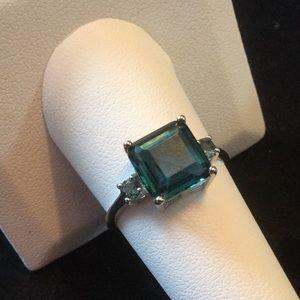 Genuine London Blue Topaz Ring
